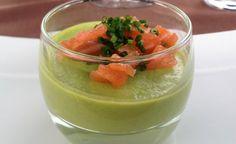 Salmone affumicato su mousse di zucchine e porri