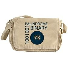 Binary Palindrome 1001001 Decimal 73 Messenger Bag for