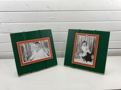 Green and orange table top picture frame holds one photo. University of Miami Hurricanes