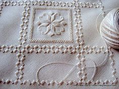 """Love the art Hardanger needlework!  This looks like a lot of my projects - all """"in progress"""" :)"""