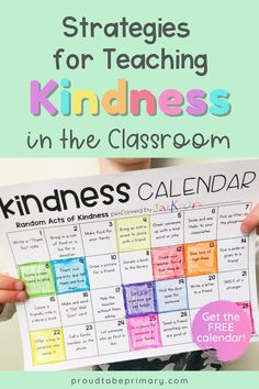 Teach kindness in the Kindergarten, first grade, and second grade elementary classroom with the character education and social emotional learning lessons and kindness activities for kids that build important social skills. Encourage kids to show kindness through setting goals and performing random acts of kindness challenges. The post includes tons of children's book ideas, SEL lessons for school, group activities for kids, and FREE printable kindness awards! #kindnessactivities #socialskills Teaching Empathy, Teaching Kindness, Kindness Activities, Teaching Social Skills, Social Emotional Learning, Group Activities, Respect Activities, Friendship Activities, Teaching Ideas