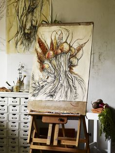 NATASHA CLUTTERBUCK, ARTIST, SOMERSET, ENGLAND – GARDENS ILLUSTRATED MAGAZINE  http://andrewmontgomery.co.uk/