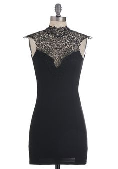 Like You a Lattice Dress in Black. Slipping on this onyx-hued bodycon dress, youre inspired to confess your admiration to the one you love. #black #modcloth
