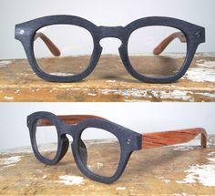 Wooden glasses frames.