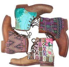 Beautiful Guate Boots! #inspiration #colorful #Teysha