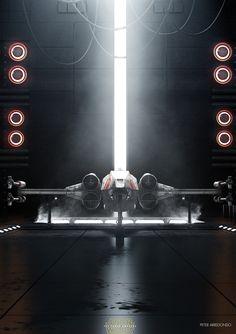 X-Wing / Yavin 4 Base, Peter  Arredondo on ArtStation at https://www.artstation.com/artwork/wP8mZ