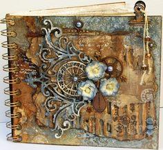 Scraps of Elegance: Steampunk-Gone-Glam.  Love This Album.  Scrapbook Mini Album.