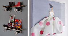 There is a great idea for hanging baskets. Stuffed animal, ball, misc toy storage. :)   22 Maneras de convertir la habitación de tus hijos en una fantasía
