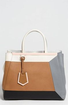 Colorblock obsession: Fendi '2Jours 3D' Leather Shopper Handbag