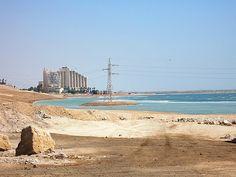 Dead Sea - looking north from Neve Zohar, Israel Dead Sea Israel, Sea Level, Ocean, Earth, World, Water, Outdoor, Gripe Water, Outdoors