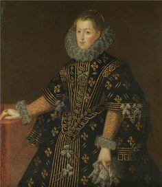1607 Margaret of Austria, Queen of Spain and Portugal by Juan Pantoja de la Cruz