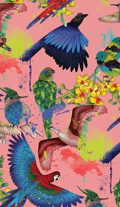 MANU ALVES - Colorful bird print / pattern