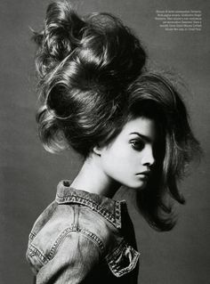LOVE big hair!   Natalia Vodianova | Steven Meisel  #photography | Vogue Italia | via tumblr