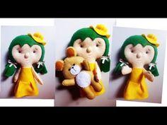 Tutorial Felt Craft - Doll Doll Felt / Bonequinha de Feltro