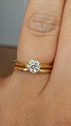 6 prong round solitaire ring with pave diamonds or without? (post yours) - Weddingbee-Boards Round Solitaire Rings, Round Solitaire Engagement Ring, Morganite Engagement, Ring Verlobung, Solitare Ring, Ring Designs, Bracelets, Trendy Wedding, Luxury Wedding