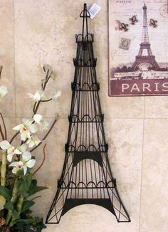 31 Eiffel Tower Iron Metal Wall Decor Jewely Holder