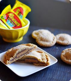 Peanut Butter Cookies filled with Reese's Peanut Butter Eggs. YES!