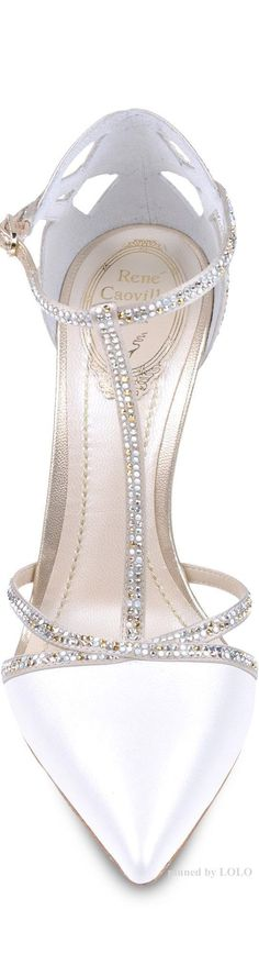 Rene Caovilla... Absolutely stunning shoe and perfect to spice up my upscale take on a summer white dress.  White and Silver, what a perfect match.