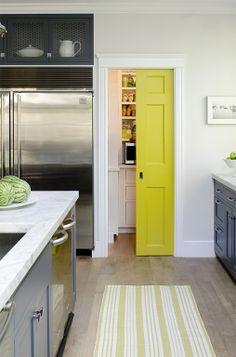 Element of surprise..yellow pocket door.