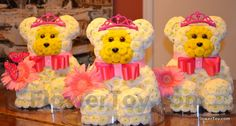 FlowerToy Bear Princess Centerpieces