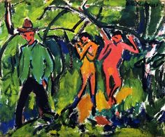 Ernst Ludwig Kirchner, In the Forest, 1910