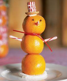 Florida Snowman by realsimple #Oranges #Snowman