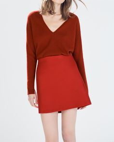 ZARA - WOMAN - FLARED MINI SKIRT