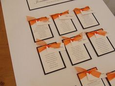 Alabama Wedding Table Plan in Orange and Brown from £70.00  Available to purchase online from http://www.weddingparaphernalia.co.uk/wedding_table_plan_alabama.htm