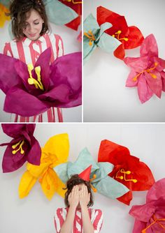 Giant Flower Photo Backdrop DIY from Oh Happy Day! (Or just an awesome decoration for your wall! Giant Flowers, Diy Flowers, Fabric Flowers, Flower Diy, Cloth Flowers, Flower Wall, Creative Studio, Kids Crafts, Diy Fotokabine