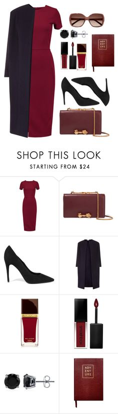 """17.02.17"" by bliznec ❤ liked on Polyvore featuring Iris & Ink, Valentino, Alexander Wang, Tom Ford, Smashbox, BERRICLE, Sloane Stationery and Chloé"