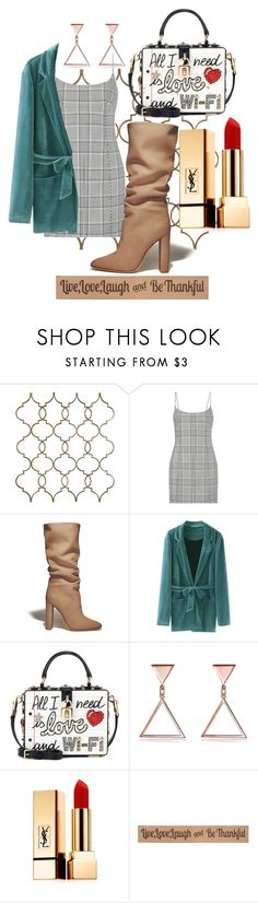 """""""xx"""" by pauloskompanieros on Polyvore featuring Alexander Wang, Gianvito Rossi, Dolce&Gabbana, Yves Saint Laurent and DutchCrafters"""