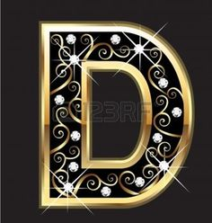 Illustration of R gold letter with swirly ornaments vector art, clipart and stock vectors. D Letter Design, Alphabet Letters Design, Letter Art, Gold Letters, Monogram Letters, Letters And Numbers, Alphabet Wallpaper, Silhouette Cameo Projects, Love Images