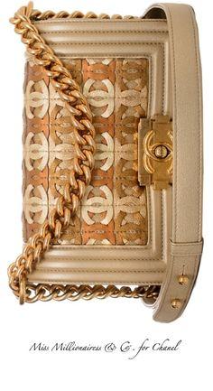 Chanel ~ Tan + Camel Leather Flap Bag