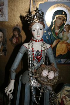 Path of Divine Love: Day Three of A Virgin a Day Colonial Art, Spanish Colonial, Religious Jewelry, Religious Art, Doll Head, Crucifix, Virgin Mary, Alters, Reborn Babies