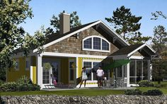 The Craftsman A-690 plan features 1 Story layout, which includes 1 Bedroom, 1 Bathroom in 690 square feet.  One story with loft overlooking the great room.