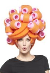 Last minute Halloween costume gift for yourself:  Chris March Big Fun Hair in Curlers Foam Wig @ Target