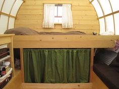 covered wagon bedroom.. this is just tooooo cool!!!! would be awesome to make into a camper or something for long travels