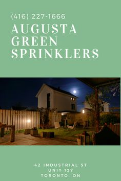 Who says the fun is gone after the sun goes down? Augusta Green Sprinklers is happy to serve residents and business owners who want to brighten up the night with our outdoor lighting system for Toronto properties.