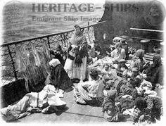 Female steerage passengers mid-ocean