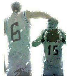 Image via We Heart It #anime #basket #Basketball #Otaku #kise #tetsuya #momoi #knb #kurokonobasket #aomine #midorima #alashi #kuroko #kagami