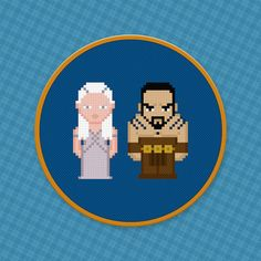 Daenerys and Khal Drogo  Game Of Thrones by pixelpowerdesign, $4.00