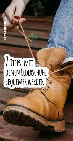 7 Tipps, mit denen harte Lederschuhe weicher werden – STYLEBOOK David Bowie Fashion, Cowboy Boots, Shoes, Shoe Polish, Leather, New Shoes, Sachets, Boots, Zapatos