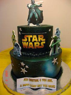 """Star Wars"" - Buttercream, edible images on GP, airbrush.  TFL!"
