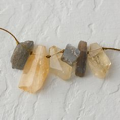 Citrine & Labradorite Row Necklace