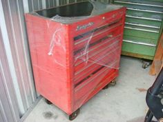 Tools , Hi- Available are Tool Boxes. The red tool box pictured below is a Snap-On tool box. This Master Series Snap-On t. Tools For Sale, Tool Box, Rolls, Ads, York, Toolbox, Bread Rolls, Tool Cabinets, Bunny Rolls