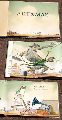 Art & Max by David Wiesner: A Beautiful Book About Art & Artists