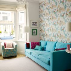 Picking Colours From A Wallpaper And Using Them Throughout The Room Will  Give A Gorgeous Cohesive · Best Living Room Decorating ...