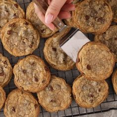 Delicious Desserts For these delicious cookies, try almond milk in place of eggs and be sure the chocolate chips and sugar you buy are labeled as vegan to ensure no animal ingredients. Vegan Chocolate Chip Cookies, Chocolate Chip Recipes, Chocolate Chips, Cookies Vegan, Dairy Free Cookies, Dessert Oreo, Chip Cookie Recipe, Vegan Dessert Recipes, Vegan Treats