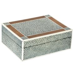 English Art Deco Shagreen, Cedar and Ivory Box | From a unique collection of antique and modern decorative boxes at http://www.1stdibs.com/furniture/more-furniture-collectibles/decorative-boxes/
