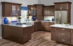 Cabinetry from Mid Continent-Available at Pierce Flooring & Cabinet Design Center Menards Kitchen Cabinets, Bath Cabinets, Kitchen Cabinetry, Kitchen And Bath Remodeling, Kitchen Remodel, Modern Classic Bathrooms, Small Half Baths, Mid Continent, Flooring Store